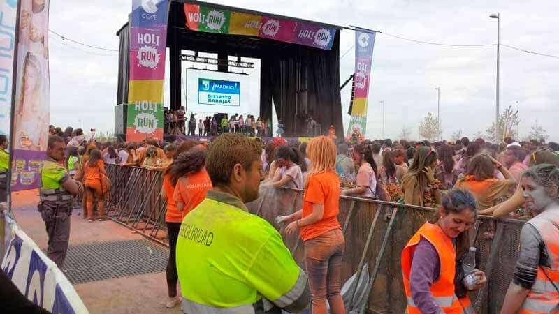 Civittas. Servicios de seguridad en eventos deportivos. Holi Run en Madrid