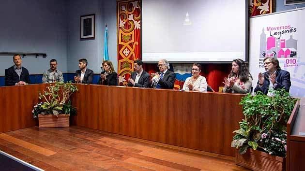 Civittas Seguridad en Leganés en la presentación del homenaje a Juanito