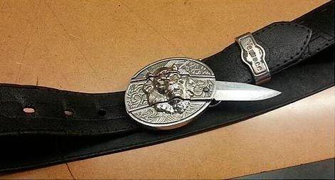 Armas camufladas - navaja cinturón - Civittas Seguridad